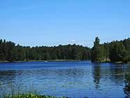 Вид на озеро - фотограф Михаил Мазуров